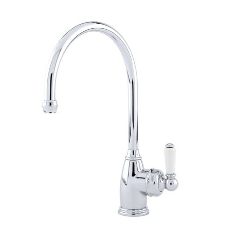 Gooseneck Faucet Kitchen Parthian Sink Mixer With Single Lever Handle Perrin And Rowe