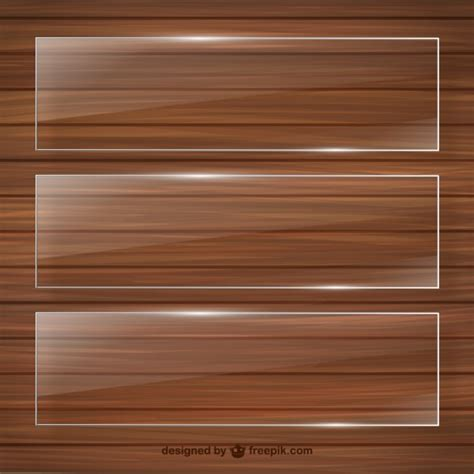 crystal frames on wooden template vector free download
