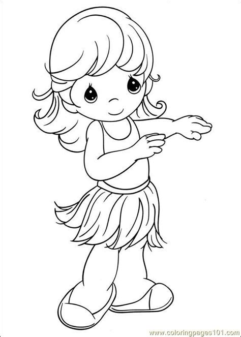 hula girl coloring pages precious moments pinterest