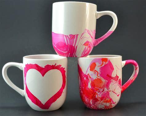 design coffee mug with nail polish marbled love mugs mom spark mom blogger
