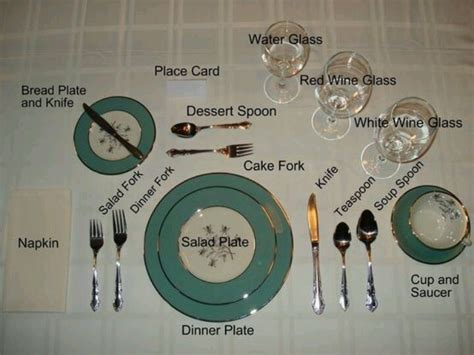 table setting etiquette etiquette