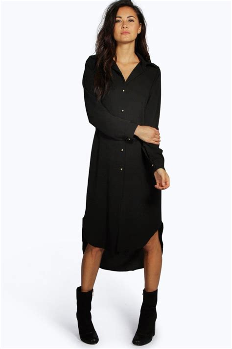 A Line Shirtdress boohoo womens ivone line shirt dress ebay