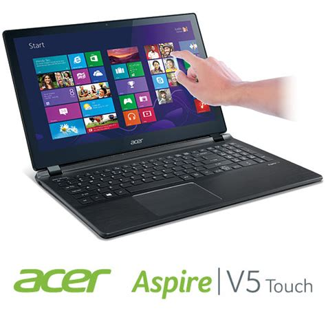 Laptop Acer V5 Touchscreen acer aspire v5 572p 6610 15 6 inch touchscreen laptop polar black computers