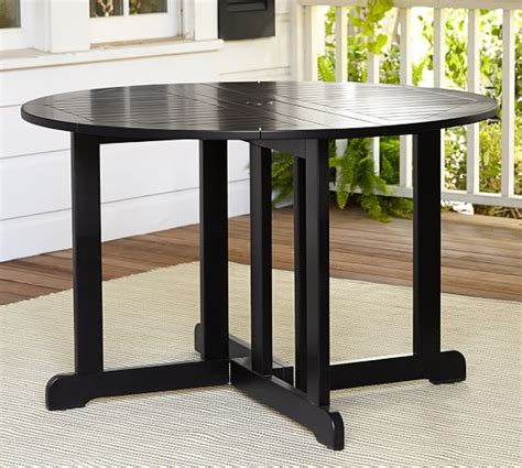 pottery barn black dining table hstead painted drop leaf dining table black