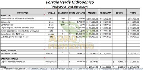forraje verde hidroponico fvh corridas financieras en