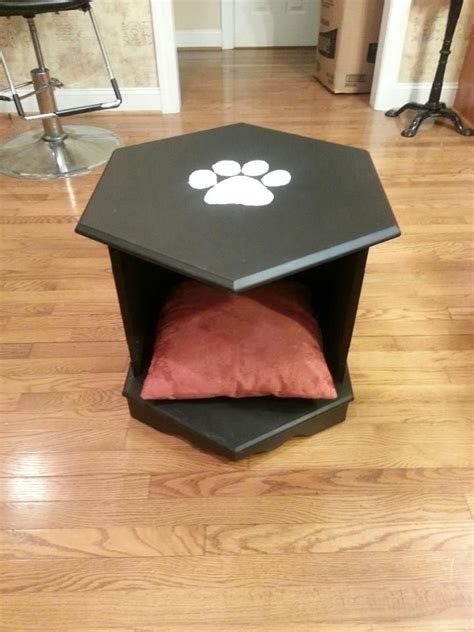 Bed Made From End Table by Pet Bed From Octagon End Table Custom Pet Beds Ive