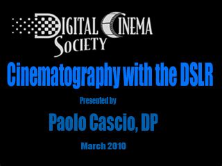digital cinema society free hdslr online seminars