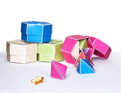 origami fortune cookie fortune cookie origami package on behance