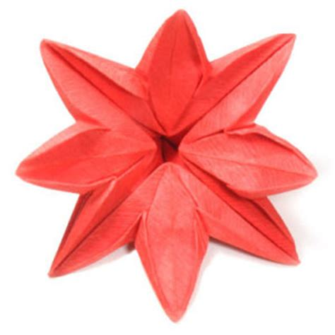 origami 8 petal flower how to make an eight petals origami flower page 1