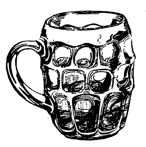 beer cartoon black and white drawn beer pint beer pencil and in color drawn beer pint
