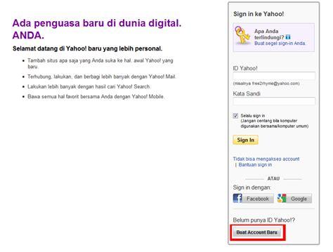 membuat account yahoo indonesia cara membuat email yahoo indonesia fikry sas