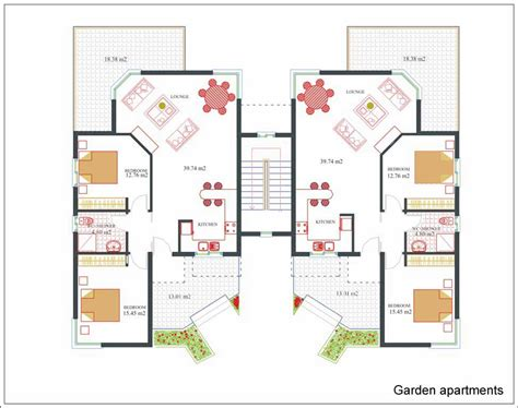 apartment house plans plan for apartment home design