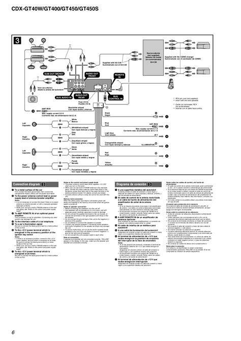 sony cdx gt200 installation manual wiring diagrams