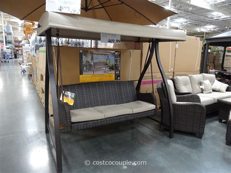 costco outdoor swing agio international fairview woven patio swing