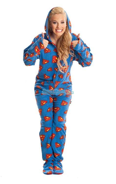 footed pj s superman warner bros pajamas footie pjs onesies one