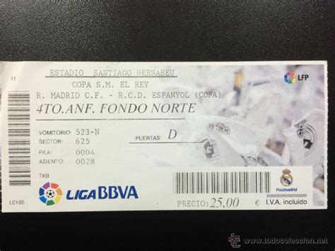 real madrid espanyol entradas entrada entera real madrid cf rcd espa 241 ol esp comprar