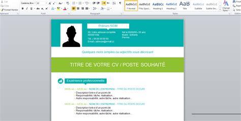 Modèle De Cv Word 2016 by Resume Format Model Cv 2015