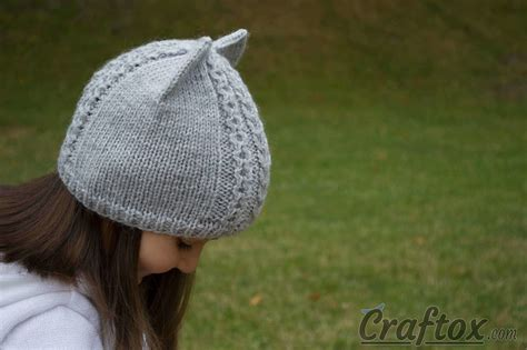 knit hat with ears knit cat ear hat free pattern