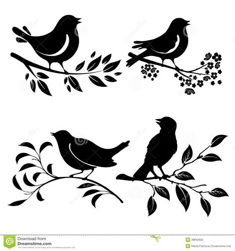 99 q to u animals collection stock images page everypixel bird on branch stock vector image of branch silhouette