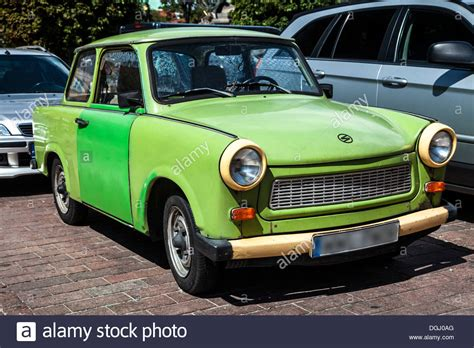 car made in the an green trabant 601s a car made in east germany in