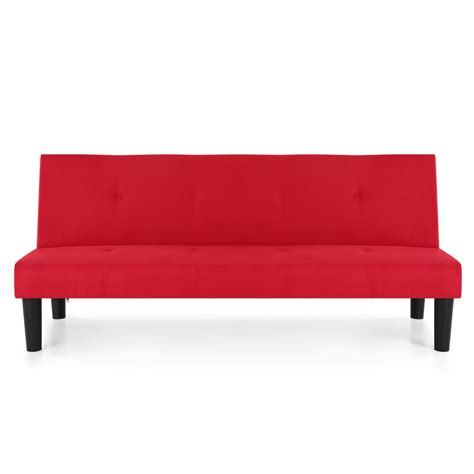 futon microfiber red ikayaa microfiber futon 3 seater couch sofa bed red