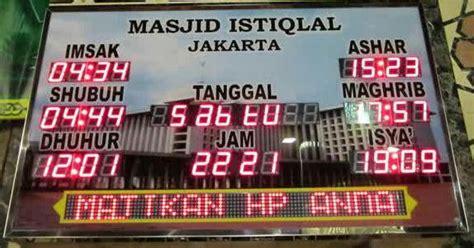 Jadwal Sholat Digital Jam Masjid Waktu Sholat Rt Series harga jam digital masjid jadwal waktu sholat digital abadi