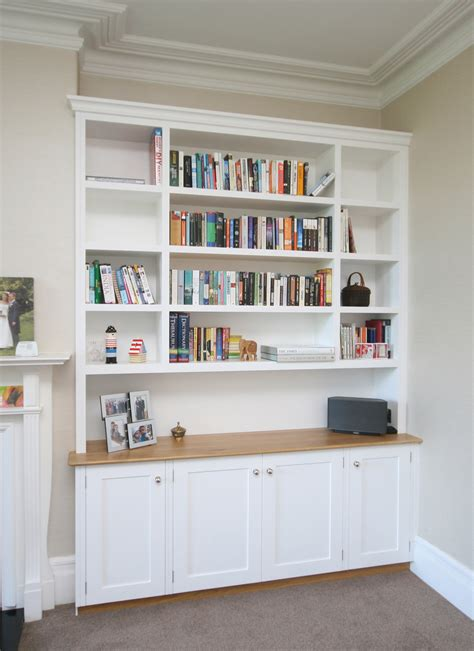 Bespoke Living Room Shelves Alcove Unit With Oak Worktop 2