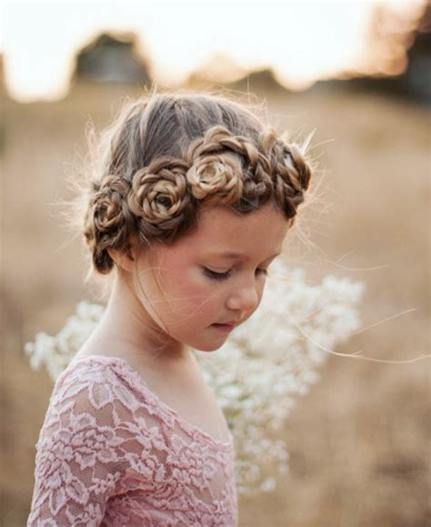 the triple braided bun with flower crown hairstyle design page 4 of 31 stunning flower braid bun hairstyles style skinner