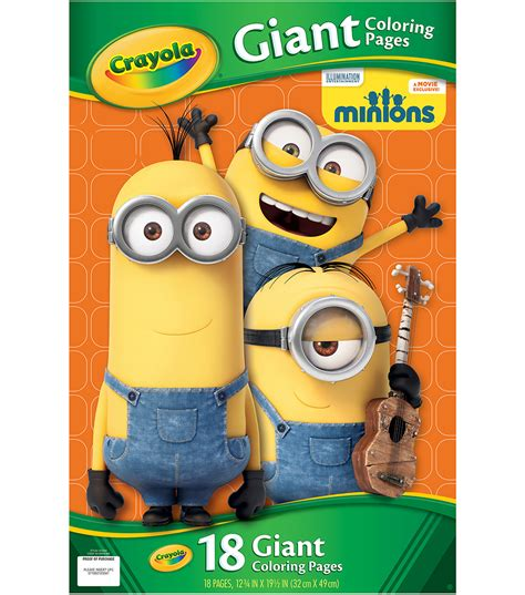 crayola coloring pages minions crayola giant coloring pages 12 75 quot x19 5 quot 18 pkg minions