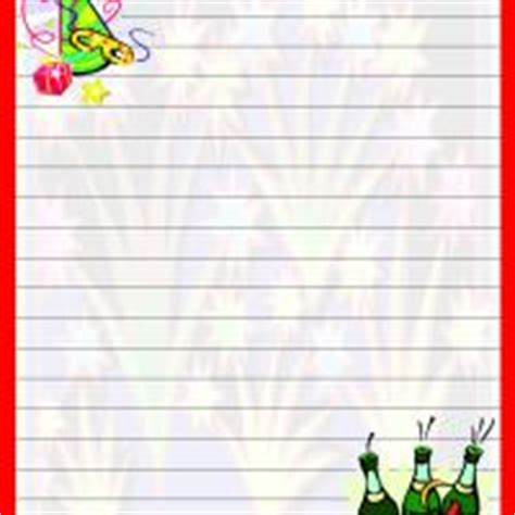 new year border paper new year with border writing paper