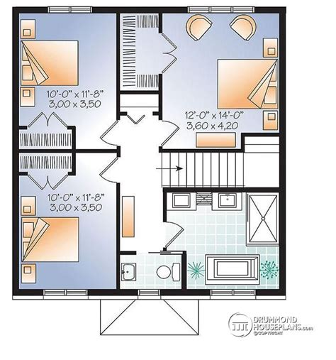 modern 3 bedroom house floor plans house plan w3716 detail from drummondhouseplans com