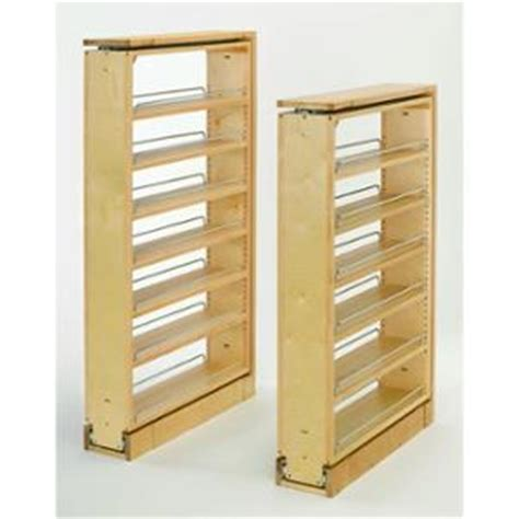 rev a shelf 432 bf 6c 6 quot wood base cabinet pullout filler buy rev a shelf 432 tf45 6c 432 series 45 quot tall filler