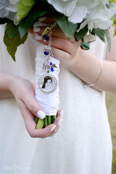 something blue bouquet charm wedding memorial charm