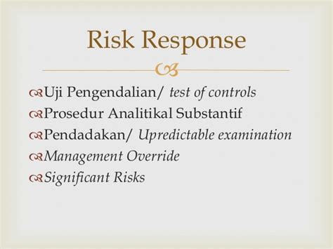 Auditing Dan Asurans proses audit berbasis risiko auditing berbasis isa