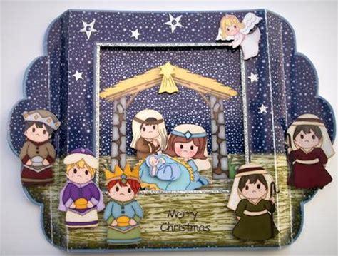 free printable christmas diorama nativity diorama card kit cup276183 489 craftsuprint