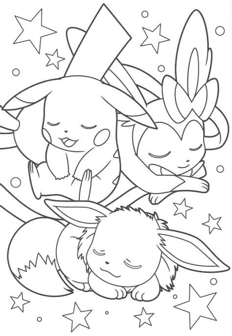 coloring pages pikachu and friends pikachu and eevee friends coloring book end anime