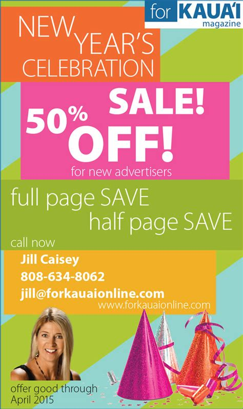 5 new year sale new year s advertising special through april 2015