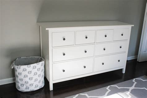 nursery progress ikea hemnes dresser erin spain