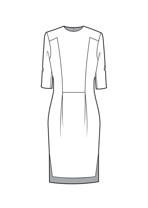 dress sketch template 30 best technical drawing images on fashion