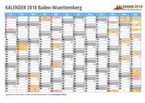 Kalender 2018 Schulferien Bw Kalender 2018 Baden W 252 Rttemberg Zum Ausdrucken 171 Kalender 2018
