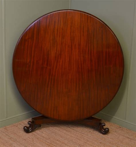Large Circular Dining Table Large Circular Solid Mahogany Antique Dining Table Antiques World