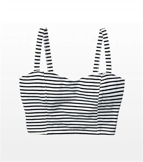 striped banded  bralette tops crop tops fashion