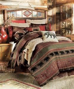 Log Cabin Bed Sets Rustic Bedding Sets Lodge Log Cabin Bedding