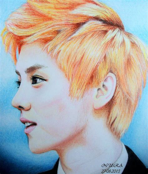 Luhan Colour Drawing By Diamondnura On Deviantart Colour Drawing