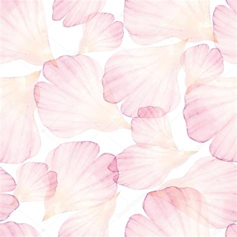 watercolor seamless pattern watercolor seamless pattern with flower petals stock