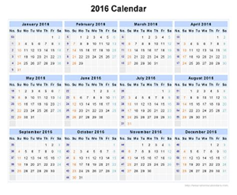 Calendar Calculator Add Weeks Image Gallery Week Numbers 2016