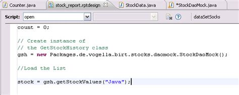 javascript tutorial vogella reporting with eclipse birt and java objects pojo s