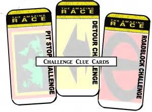 free amazing race clue cards templates amazing race printables review concert