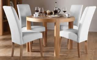 oak dining table and white chairs gallery