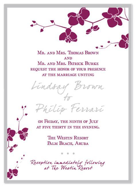 Wedding Invitations Orchid Wedding Invitation At Minted Com Orchid Wedding Invitation Template